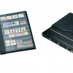 Clasor timbre cu 16file / 32pagini negre in caseta de protectie