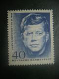 HOPCT TIMBRE MNH 899  PRESEDINTELE SUA J F KENNEDY   1964 - 1 VAL GERMANIA, Nestampilat