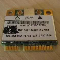 Placa wireless laptop Dell Vostro 3500, DW 1501, 0K5Y6D, Broadcom BCM94313HMG2L