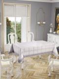 Față de masă Valentini Bianco , model Botanic Gri