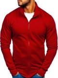 Bluză cu fermoar bărbați bordo Bolf B002