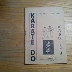 KARATE DO * WADO RYU - Vol.I, - Liviu Meita, Ticu Vieru - Donaris, 1990, 48 p., Nemira, 1992