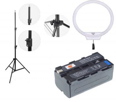 Kit lumina continua Lampa Yongnuo YN608 3200K-5500K+2x Acumulatori Dste NP F+incarcator+stativ foto