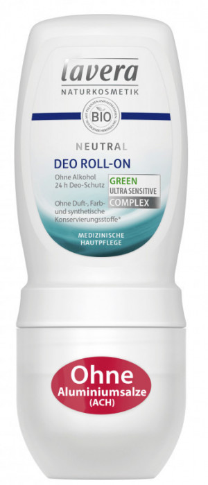Deodorant roll-on fara alcool pentru piele foarte sensibila iritata Neutral,...