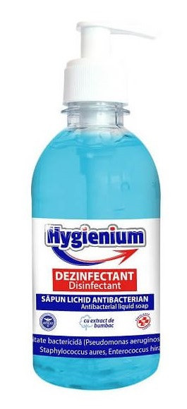 Hygienium Sapun antibacterian dezinfectant 300ml Avizat de Ministerul Sanatatii in stoc