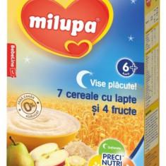Cereale Milupa Vise Placute - 7 cereale cu lapte si 4 fructe, 250g