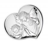Icoana de Argint Ingerul Pazitor 6.5*7.5cm Cod Produs 2763