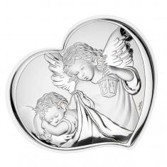 Icoana de Argint Ingerul Pazitor 10.5*9 cm Cod Produs 2577