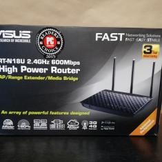 Asus RT-N18U 2.4GHz 600Mbps High Power Router, Gigabit Ethernet, USB 3.0 - Nou