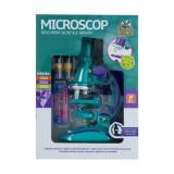 Microscop de stiinte de dezvoltare ,educativ, cu lumina LED, 100X 200X 450X Marire ,pentru copii, Multicolor