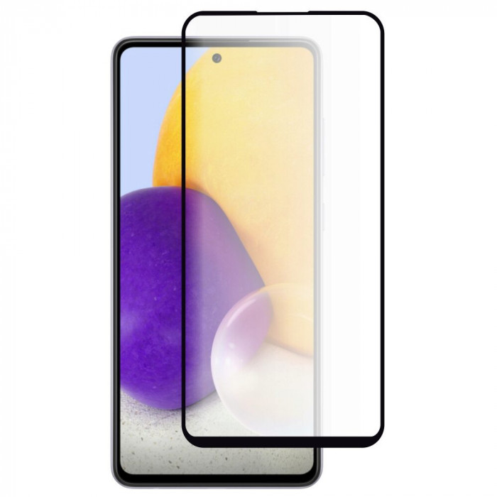 Folie Sticla Roar pentru Samsung Galaxy A72, 5D, Case Friendly, Full Glue, Negru
