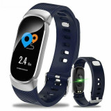 Cumpara ieftin Bratara Techstar® Fitness B11 Albastru, IPS, Bluetooth 4.0, IP65, Monitorizare Cardiaca, Tensiune. Oxigenare, Hidratare