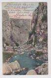 Carte postala Turda  ,  Cheile Turzi  ,  litho  ,  circulata 1908