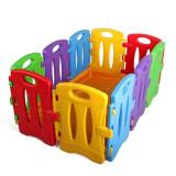 Tarc de joaca pentru copii, modular, Colorful Nest, 130 x 85 x 60 cm, 10 piese, multicolor