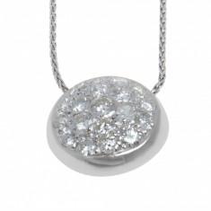 Lant cu pandantiv din aur 18k decorat cu diamante