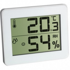 Termometru si Higrometru digital de camera alb TFA