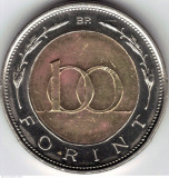 100 Forint 1997 Ungaria bimetal, Europa, Alama