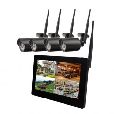 Resigilat : Kit supraveghere video PNI House WiFi500 NVR cu monitor touchscreen de