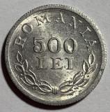 """500 Lei 1946 Aluminiu, Romania, surplus de material in interior la """"0"""", Luciu"""