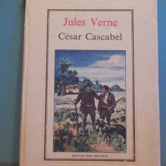 JULES  VERNE - CESAR CASCABEL - CARTONATA, 212 PAG. - ED. ION CREANGA, 1988.