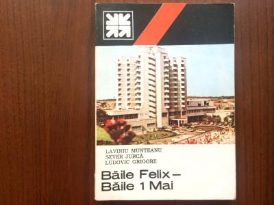 baile felix baile 1 mai mic indreptar turistic editura sport turism 1987 RSR foto