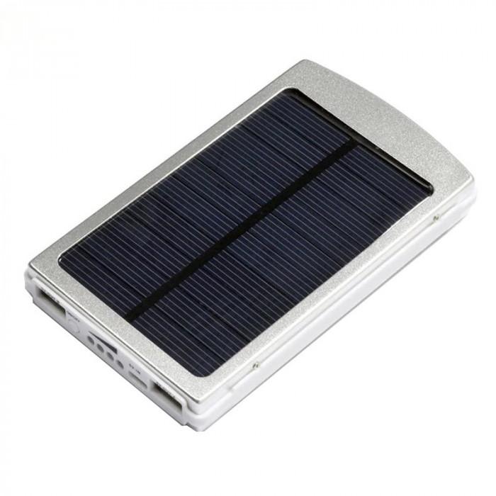 Baterie cu incarcare solara Solar Charger, 2 x USB, 20.000 mAh, functie lanterna
