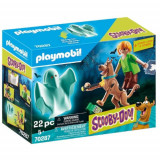 Set de Constructie Scooby si Shaggy cu Fantoma, Playmobil