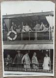 Calatori la bordul unui vapor// fotografie J. (Iosif) Berman, Portrete, Romania 1900 - 1950