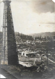 Fotografie camp sonde Moreni interbelica romaneasca poza veche Stelian Popescu