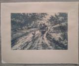 Caruta pe drum/ gravura