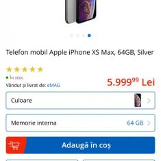 vând iPhone xs MAX sigilat silver 64g