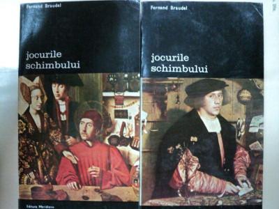 JOCURILE SCHIMBULUI -FERNAND BRAUDEL -BUC. 1985 VOL.I-II foto