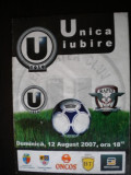 Universitatea Cluj Napoca - Rapid Bucuresti (12 august 2007), program de meci