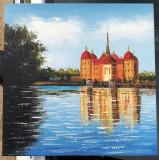 Tablou ulei pe panza Peisaj pictura decor 50x50 cm