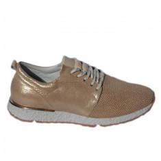 Adidas moderni, nuanta de auriu din piele naturala