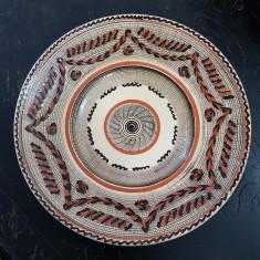 CERAMICA DE HOREZU-STELIAN OGREZEANU-FARFURIE DECORATIVA SEMNATA DE ARTIST