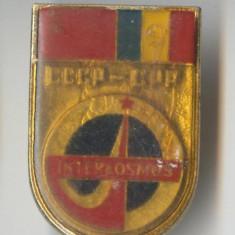 Insigna  INTERCOSMOS - aviatie - aerospatiale - cosmonautica 1980