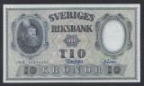 A5170 Sweden Suedia 10 kronor 1958 SEMNATURI DIFERITE UNC