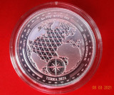 Moneda 1 oz 31grame necirculata din Argint pur 999 valoare 5$ capsula TERRA 2021