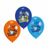 "Baloane latex 8"" inscriptionate Toy Story Happy Birthday Asortate, Amscan 450230, set 6 buc"