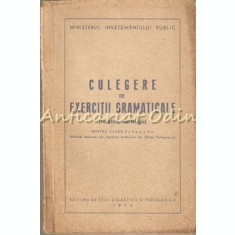 Culegere De Exercitii Gramaticale (Fonetica, Morfologie) - Cl. a V-a Si a VI-a