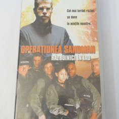 Caseta video VHS originala film tradus Ro - Operatiunea Sandman