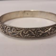 BRATARA argint FRANTA art nouveau 1900 CATUSA marcaj VECHI de efect RARA superba
