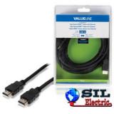 Cablu HDMI de mare viteza cu functie Ethernet, conector HDMI Ethernet - conector HDMI 5 m, negru