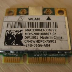Placa wireless laptop Dell Latitude E6320, DW1501, 0WHDPC, BCM94313HMG2L