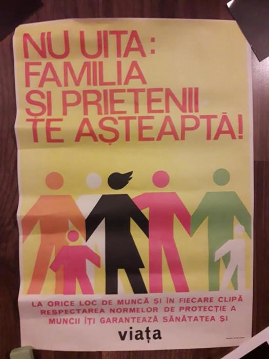 Afis protectia muncii romanesc comunist RSR