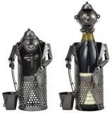 [en.casa]® Suport elegant sticla vin - suport sticla - pescar- cadou