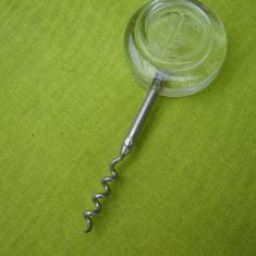 Tirbuson suedez cu maner din sticla