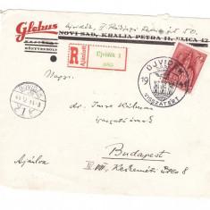 Ungaria 1941 - Fragm. plic recomandat circulat Novi Sad-Budapest