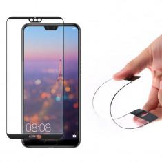 Folie Sticla Flexibila Huawei P20 PRO - Full Cover Nano Glass Black